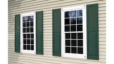 Mid-America Combination Louver Panel Vinyl Shutters