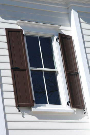 Is there such a thing as exterior solid core vinyl shutters for Vinyl vs wood exterior shutters