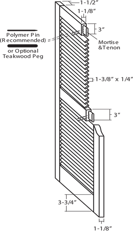 Southern Shutter Company | Standard Fixed Louver Shutter Specifications