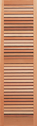 Southern Shutter Company |   Standard Fixed Louver Shutters