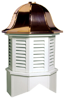 Bedford Louvered Cupola Octagon Base Bell Roof Larson