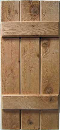 Buy Shutters Online Rough Sawn Cedar Western Red Cedar