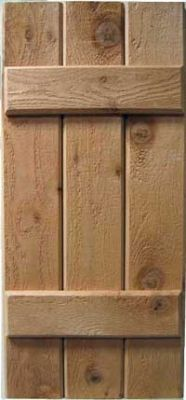 Buy Shutters Online | Rough Sawn Cedar | Western Red Cedar Shutters