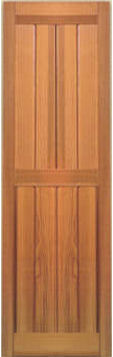 Premium cedar wood shutters larson shutter company for Recessed panel shutters