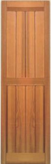 Raised panel wood shutters cedar shutters exterior for Recessed panel shutters