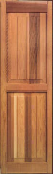 Heavy duty recessed stile and rail v groove raised panel for Recessed panel shutters