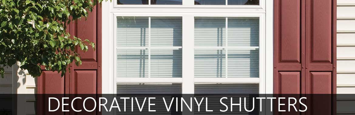 Vinyl exterior window shutters exterior decorative shutters for Should plantation shutters match trim