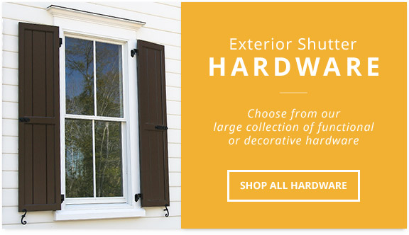 Exterior Shutter Hardware, Stainless Steel And Faux Hardware