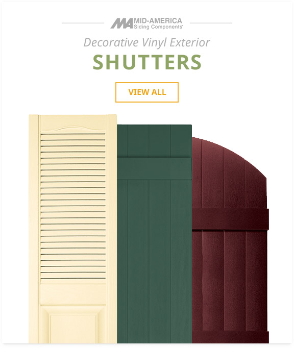 Mid America Decorative Vinyl Exterior Shutters