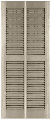 Custom Double Wide Vinyl Louver Window Shutters Exterior