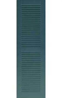 Painted Rockbridge Traditional Faux Louver Extira Composite Exterior  Shutters (pair)