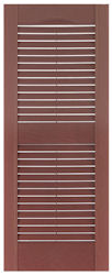 17 3 4 custom louvered single wide exterior vinyl shutter pair larson shutter company for 18 inch wide exterior shutters