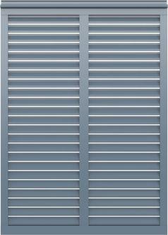 Z Louver Style Decorative Aluminum Bahama Shutter