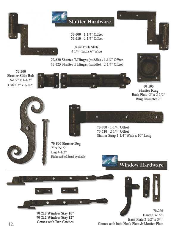 Coastal Bronze Hardware | Window Shutter Hardware | Larson Shutter
