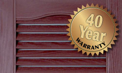 Mid America Lifetime warranty vinyl shutters