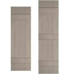 Board And Batten Vinyl Shutters