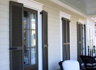 Exterior Wood Shutters Outdoor Wood Shutters Larson